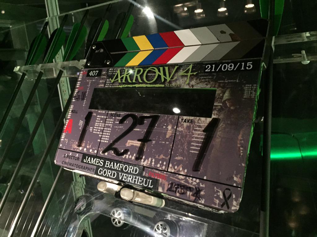 Slate for Arrow Brotherhood episode