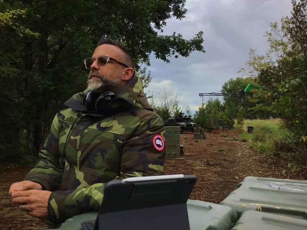 James Bamford on location for Arrow